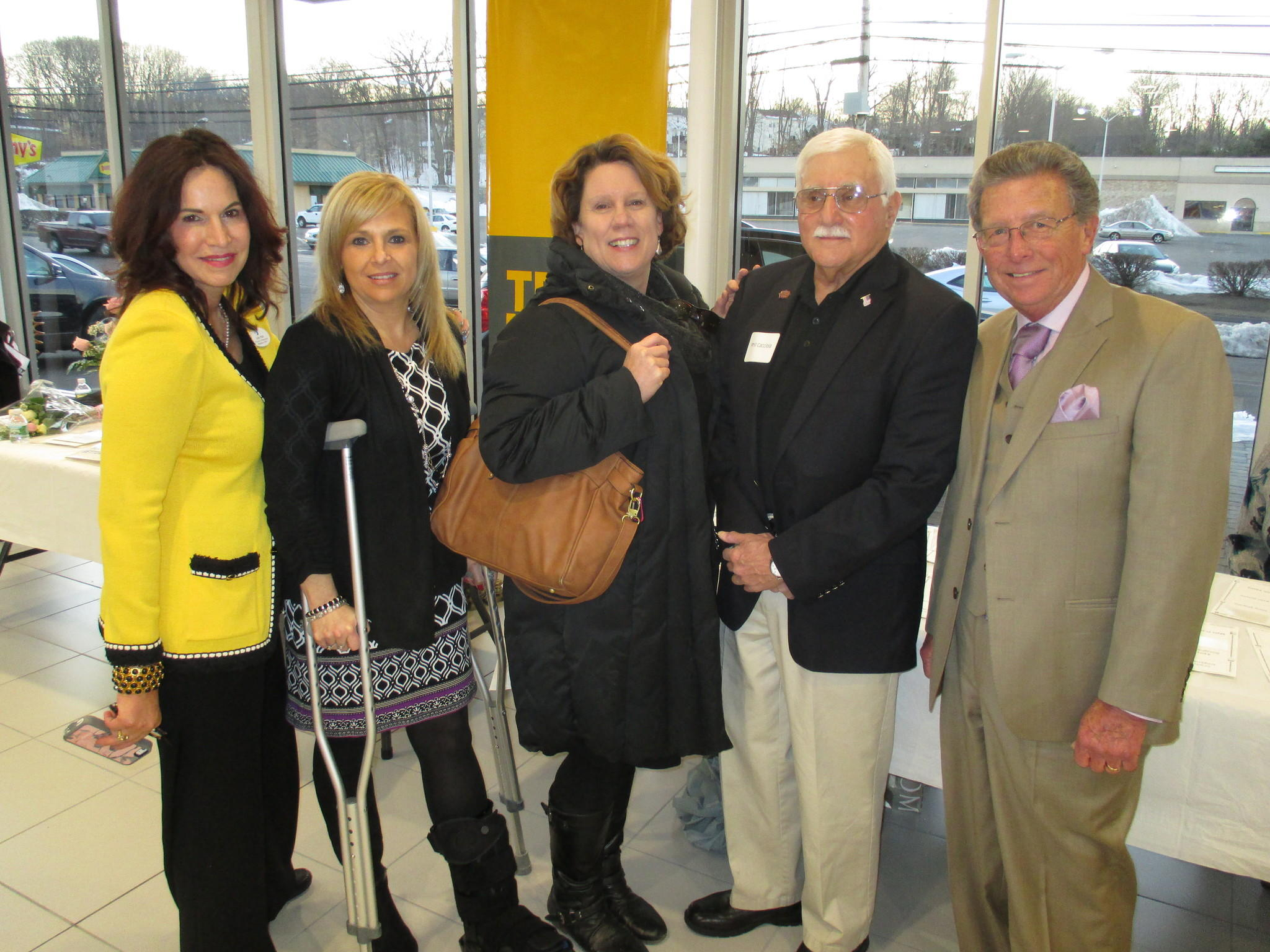 From left to right: Judy Hall, development director Middlesex YMCA; Kelly Smith, campaign chair; Sue Dionne, membership director; Phil Cacciola; Henry Coe.