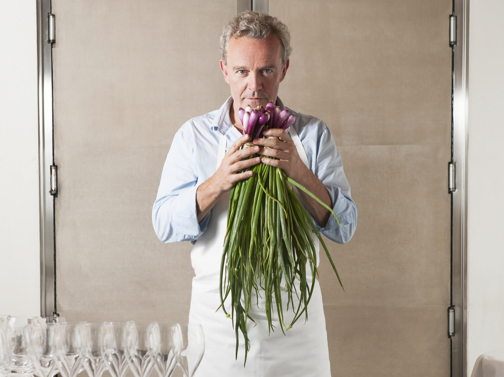 Chef Alain Passard of l'Arpege in Paris is known for his cuisine a la vegetable.