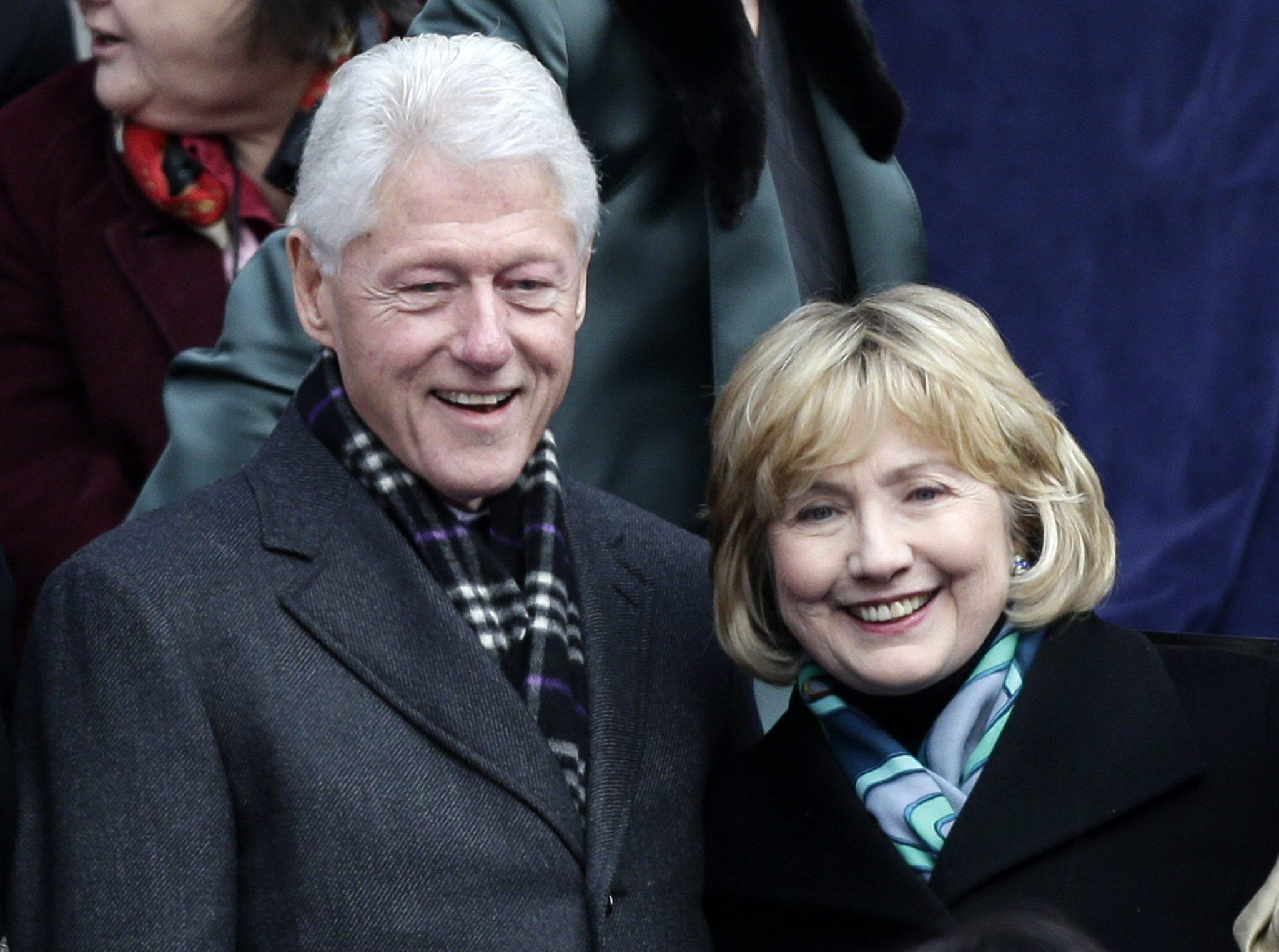 Bill and Hillary Rodham Clinton in January at the swearing-in of New York Mayor Bill de Blasio. Newly released Clinton White House documents may signal conflict ahead as Hillary Clinton considers her own presidential run.