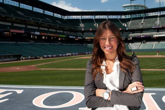 Jen Royle, photographed at Oriole Park Wednesday.
