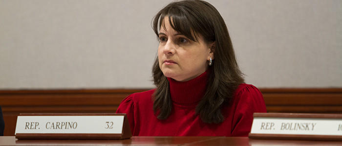 State Rep. Christie Carpino (Cromwell & Portland) on the legislature's Judiciary committee.