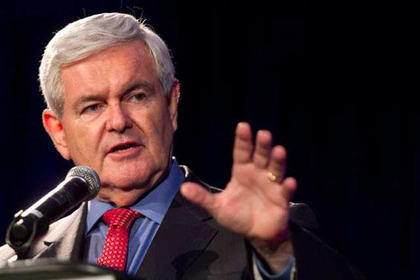Newt Gingrich, Republican presidential candidate. (Jessica McGowan / Getty Images)