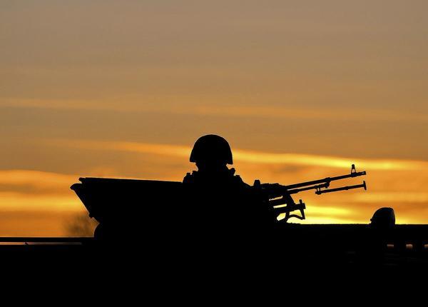 Pro-Russia soldier in Ukraine