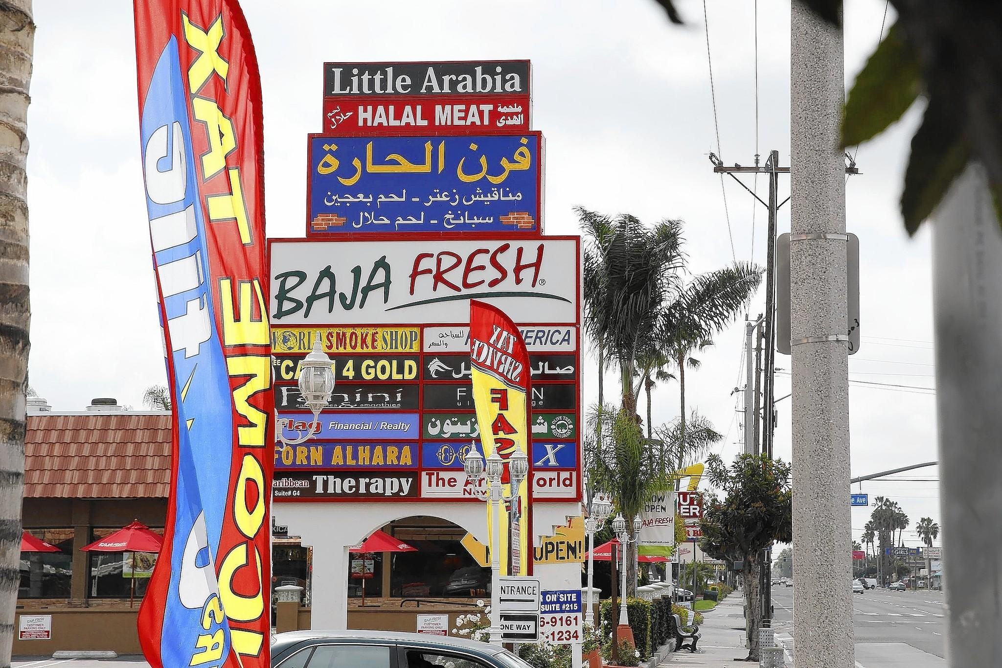 Many businesses along a stretch of Brookhurst Street in Anaheim known as Little Arabia are aimed at Arab American customers.