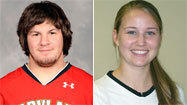 College lacrosse men's and women's players of the week