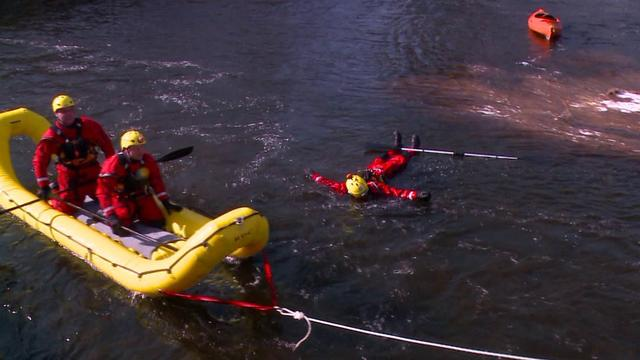 First Responders Train For Water Rescues