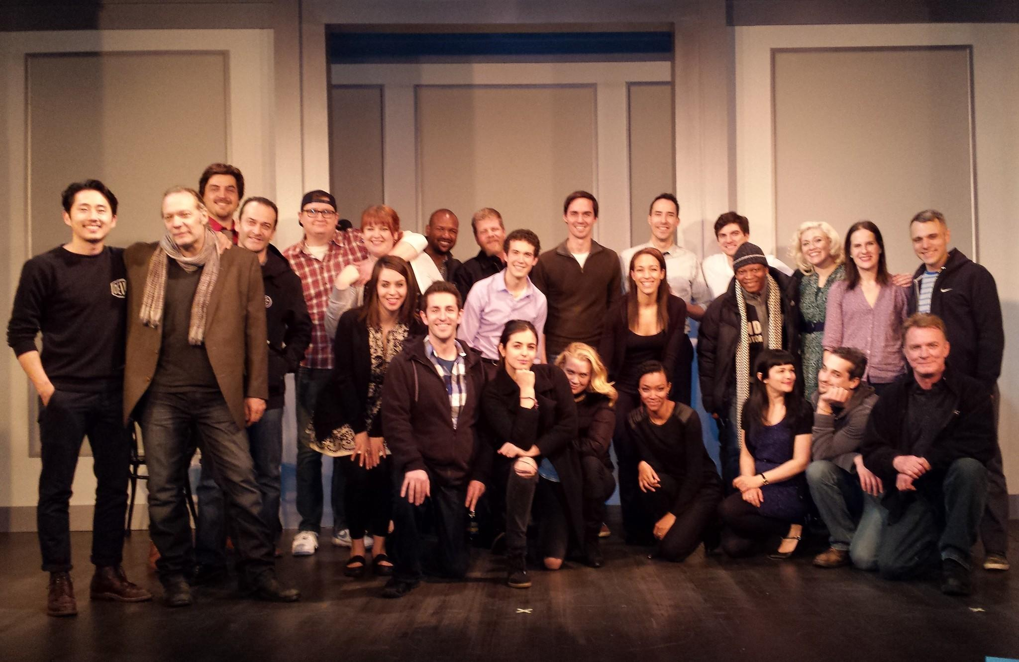 """""""The Walking Dead"""" cast members and Second City cast members at Second City March 15, 2014."""