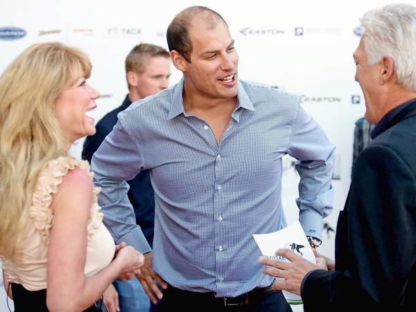 Anaheim Ducks team captain Ryan Getzlaf, center, held a two-day charity event for autism this past weekend. (Kevin Chang / Daily Pilot)