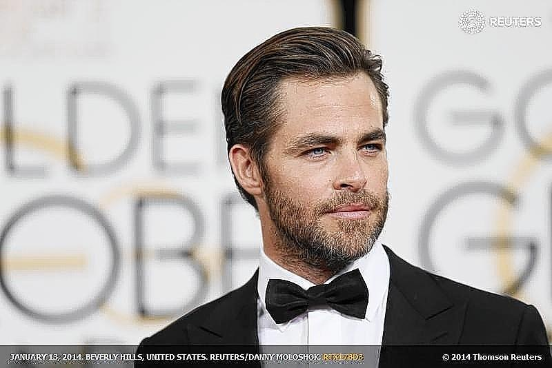 Actor Chris Pine arrives at the 71st annual Golden Globe Awards in Beverly Hills in January.