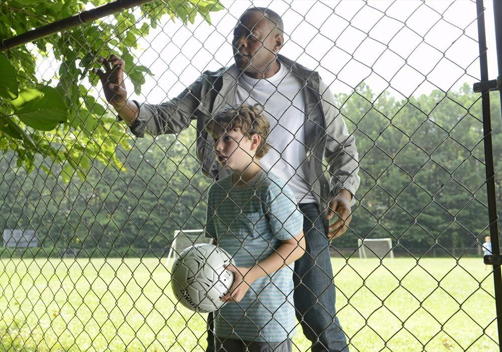 "Landon Gimenez and Omar Epps in ABC's ""Resurrection."""