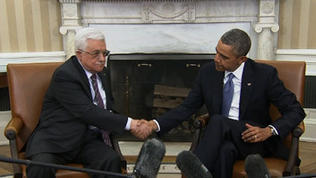 Video: Obama and Abbas discuss peace deal