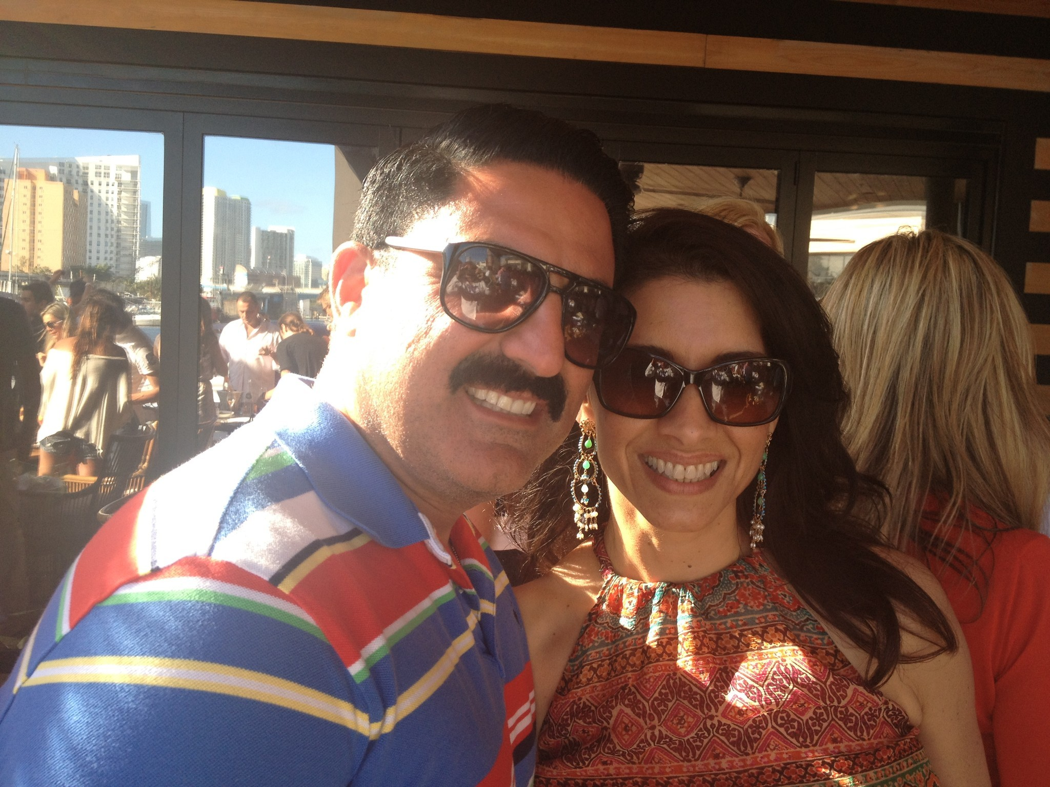 Celeb-spotting around South Florida - Reza Farahan in Miami