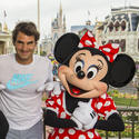 Photo: Tennis star Roger Federer at Magic Kingdom