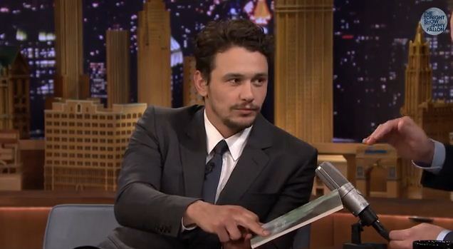 Image result for james franco on jimmy fallon for first written book