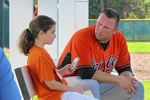 Sydney Hudak, 11, has been blogging about the Orioles during spring training in Sarasota, Fla., including interviewing Tommy Hunter and others with the Orioles this month.
