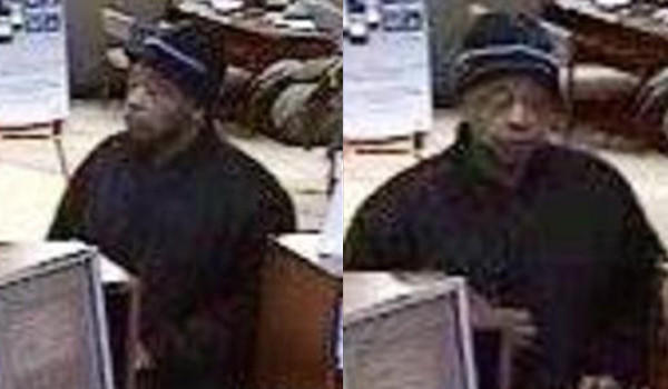 Surveillance photographs of a man who tried to rob an Albany Park neighborhood bank Monday afternoon.