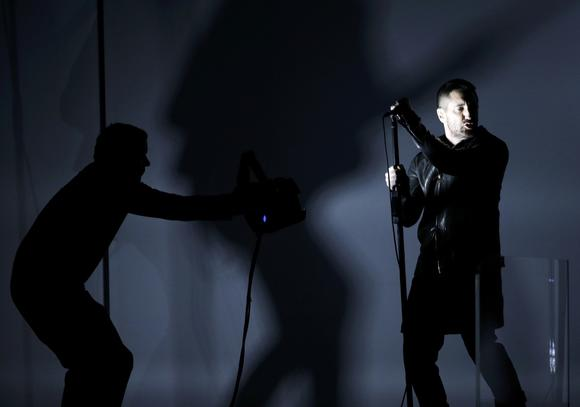 Trent Reznor of Nine Inch Nails performs at the Grammy Awards in Los Angeles earlier this year.
