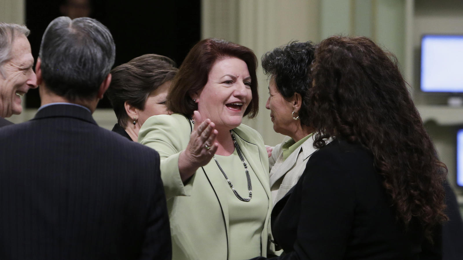 Senate Bill 2 from Sen. Toni Atkins (D-San Diego) would add a $75 fee to real estate transactions, such as mortgage refinances, to fund state housing subsidies. (Rich Pedroncelli / Associated Press)