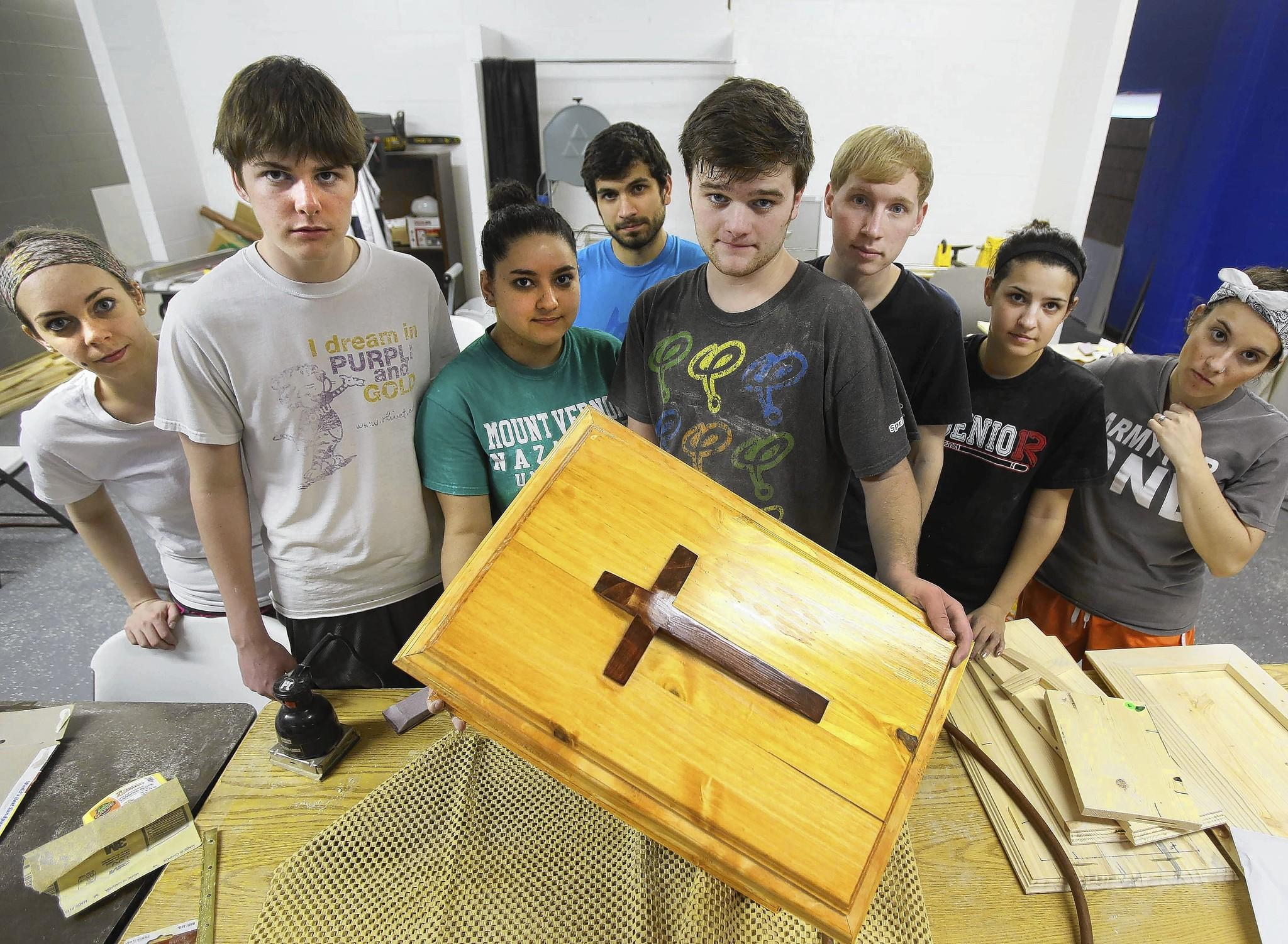 A group of 47 Bible college students from Mount Vernon Nazarene University Ohio made baby caskets for indigent parents at Lake Como Connexions Church of the Nazarene.