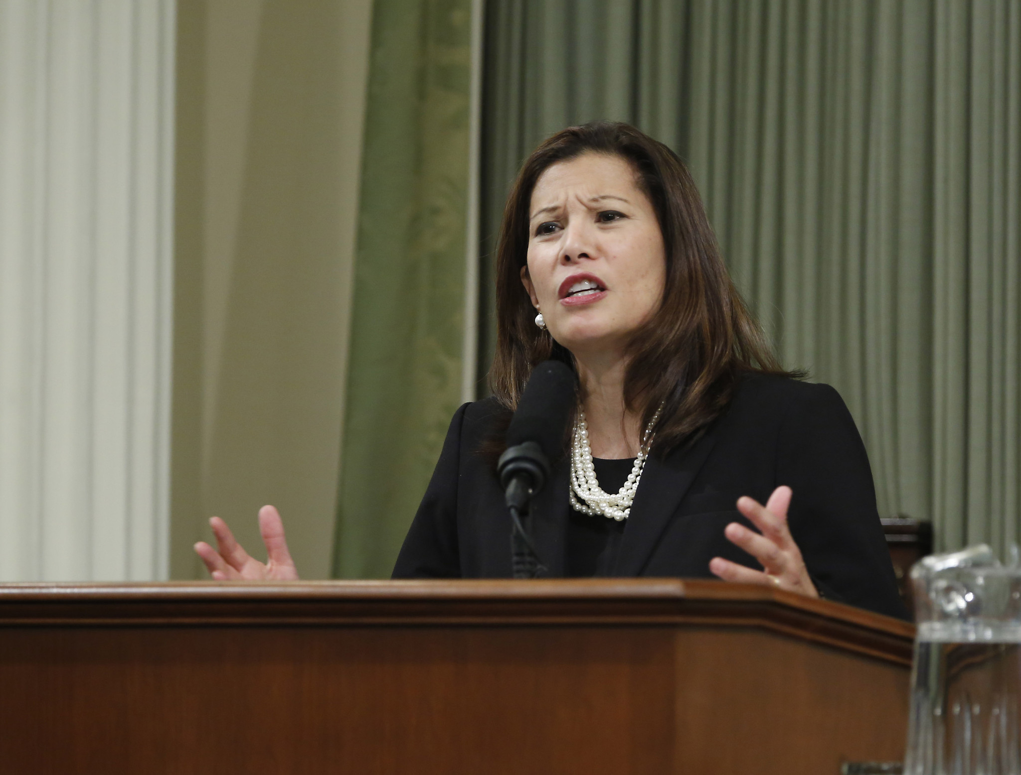California Chief Justice Tani Cantil-Sakauye warned Monday that the rule of law in state is under threat. (Rich Pedroncelli / Associated Press)