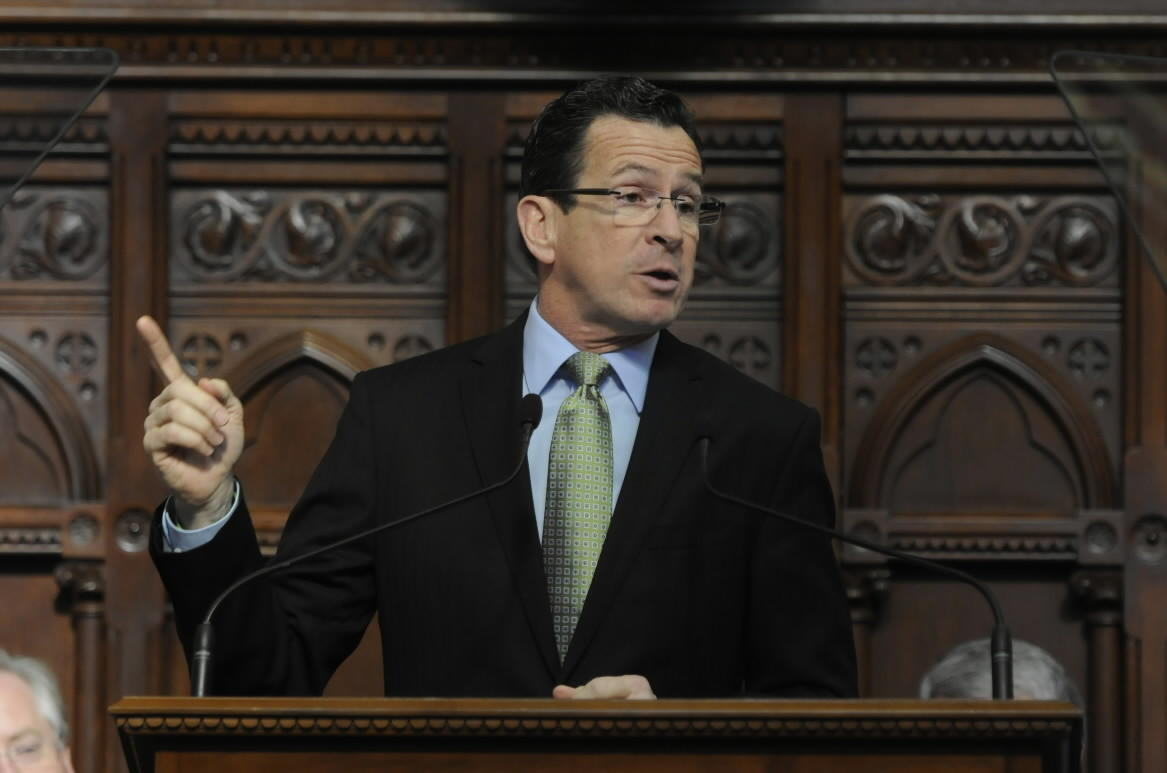 Gov. Dannel P. Malloy delivers his State of the State address on Feb. 6.