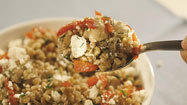 Recipe: Farro salad with mushrooms, dill and feta