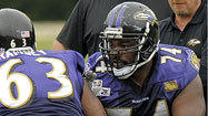 Ravens' Oher focused on developing into elite left tackle