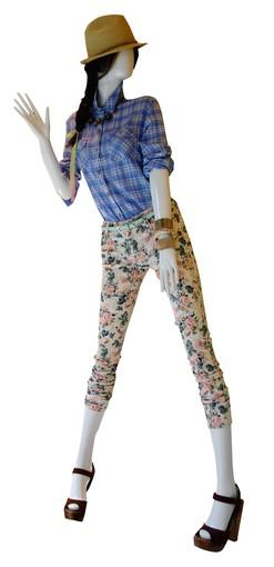 """<b>Tip: </b> Avoid matchy matchy; combine opposites, girly """"vintage"""" necklace with boyish plaid shirt<br> <br> <b>On mannequin:</b> Hat, $6.50; shirt, $19.90; necklace, $10.80; pants, $24.90; belt, $5.80; similar bracelets, $3.80 and up; shoes, $28.80<br> <br> All fashions from Forever 21, forever21.com"""