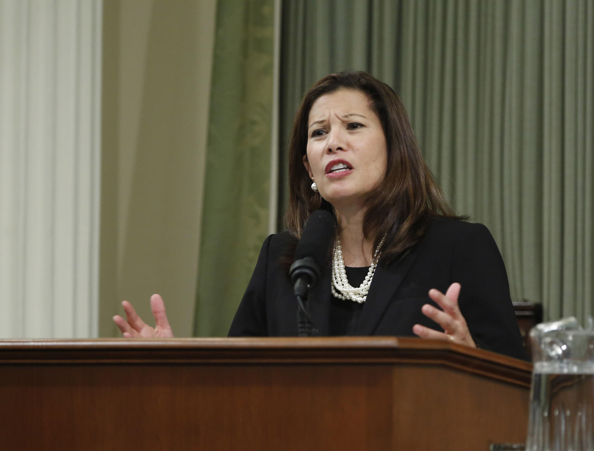 California Chief Justice Tani Cantil-Sakauye says the state's court system needs additional funding.