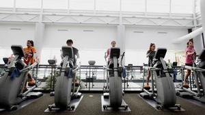 Gym machines offer the attraction of distraction