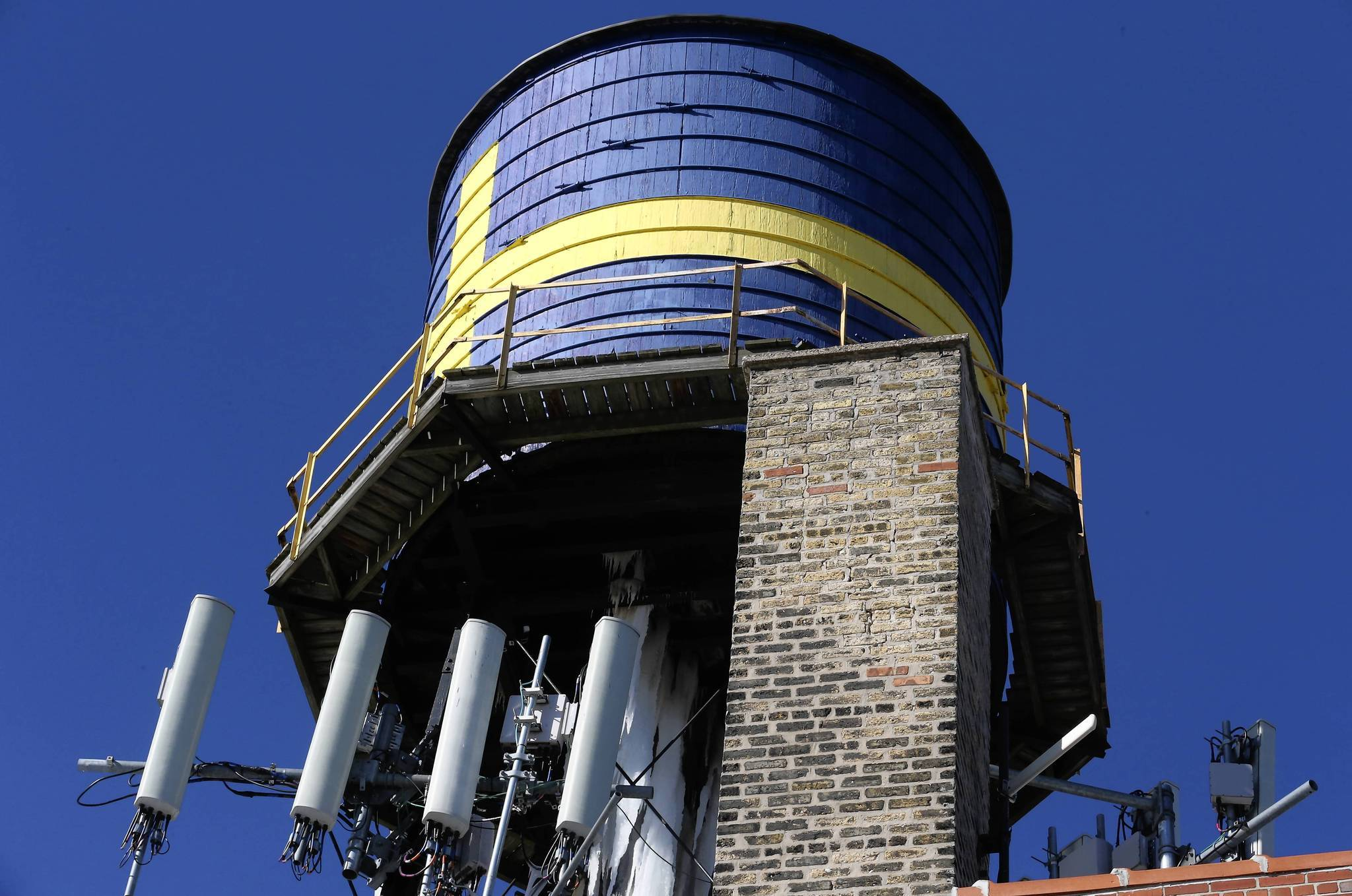The water tower that sits atop the Swedish American Museum in the Andersonville neighborhood was damaged when the water inside froze this winter. The tower, which the museum's director said has been there since the building's inception in 1927, will need to be removed.