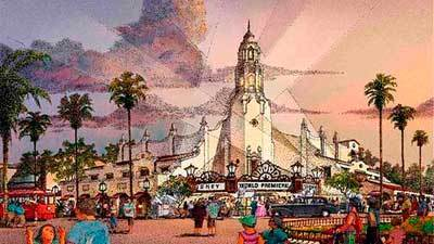 Concept Art Of Buena Vista Street At Disney California