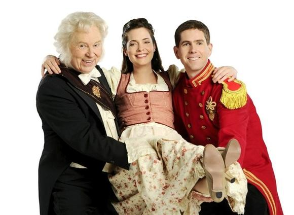 "Dale Benson, Danielle Knox and William Bennett in ""The Student Prince"" at Light Opera Works."