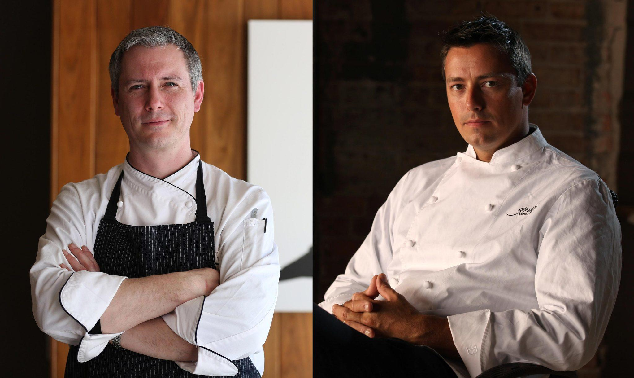 Sepia's Andrew Zimmerman (left) and Grace's Curtis Duffy are among Chicago finalists for the 2014 James Beard Foundation Awards.
