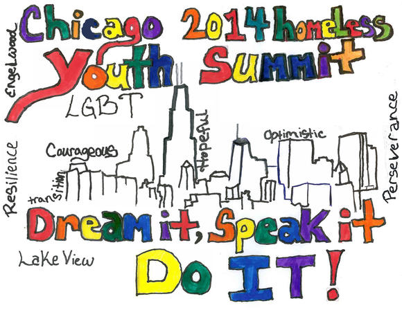 Chicago 2014 LGBT Youth Summit flyer