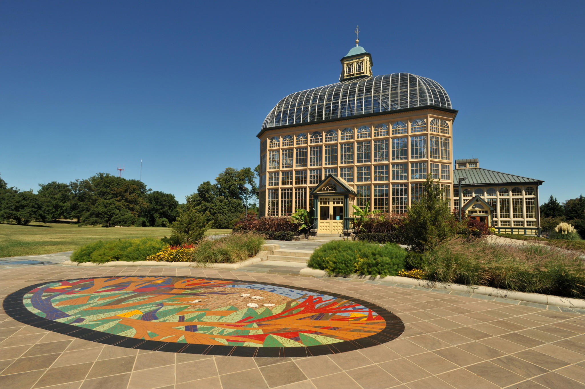 The Howard P. Rawlings Conservatory is in Druid Hill Park.