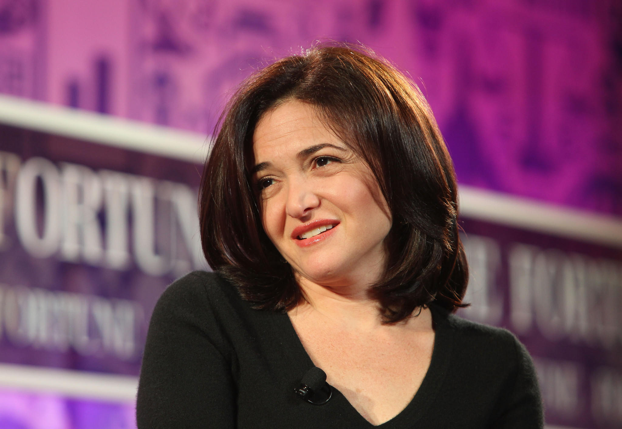 Chief operating officer of Facebook Sheryl Sandberg speaks onstage at the FORTUNE Most Powerful Women Summit.