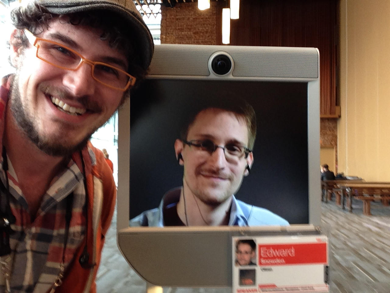 Andrew Hobgood, director and co-author of Steppenwolf's reWILDing Genius, received praise from the famous NSA leaker, Edward Snowden, today at TED2014.