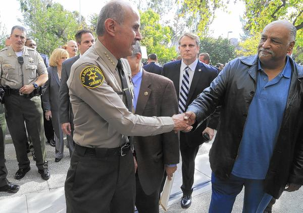 Sheriff Lee Baca with Celes King IV