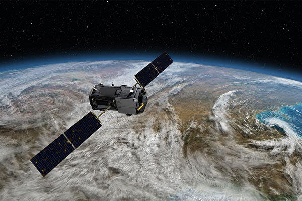 An artist's rendering of NASA's Orbiting Carbon Observatory, one of five Earth science missions launching in 2014. It will help answer questions about the planet's carbon dioxide levels.