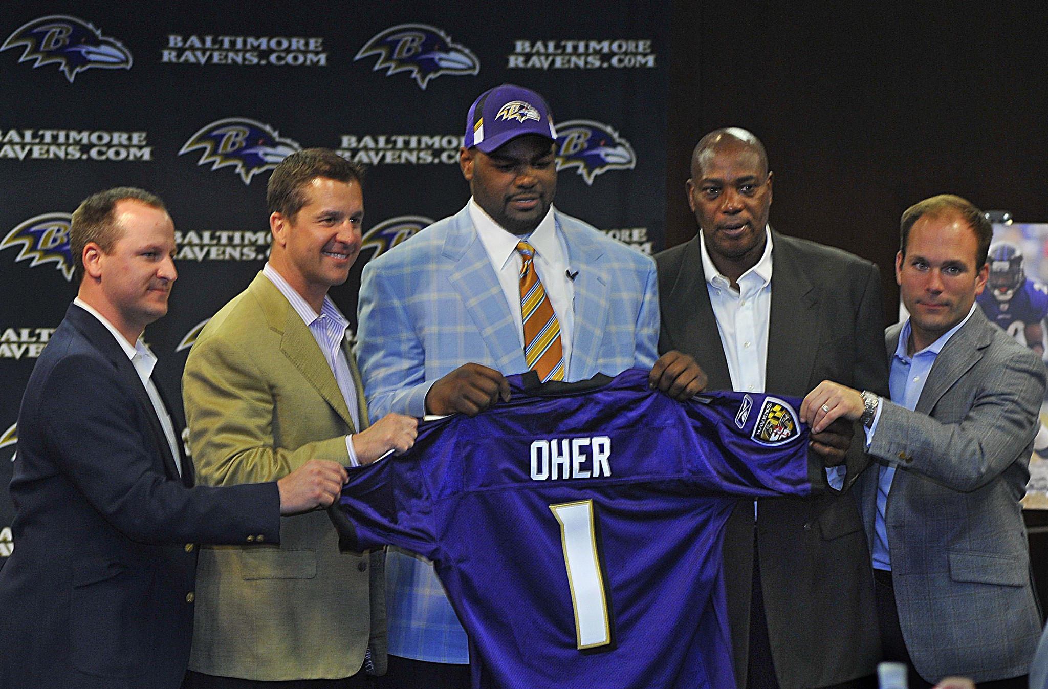 Michael Oher is the most recent offensive player to be taken by the Ravens in the first round of the NFL draft.