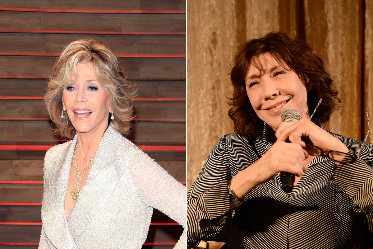 jane fonda left and lily tomlin will star in the new netflix sitcom