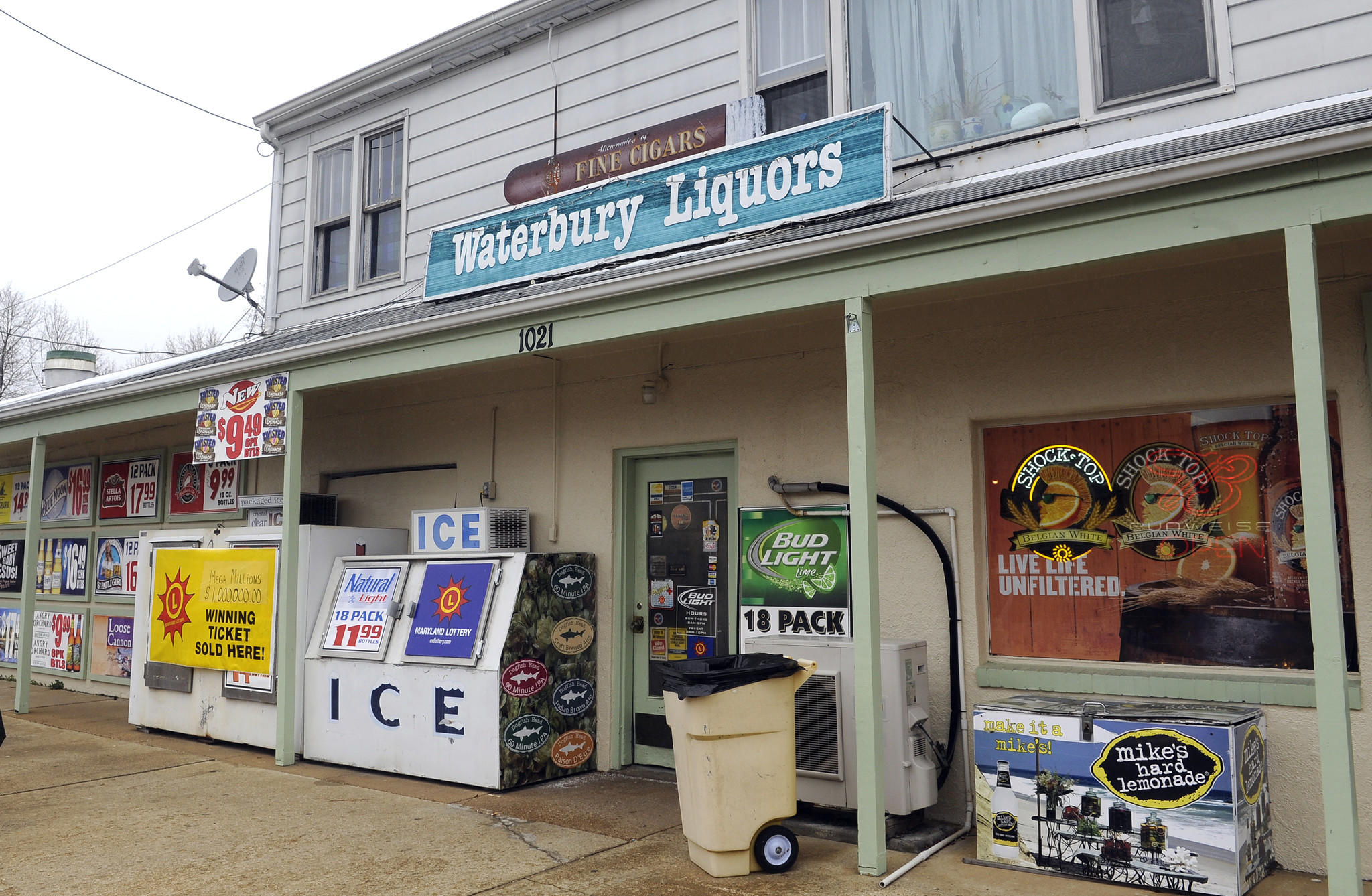 This is Waterbury Liquors in Crownville, where a $1 million lottery ticket was sold.