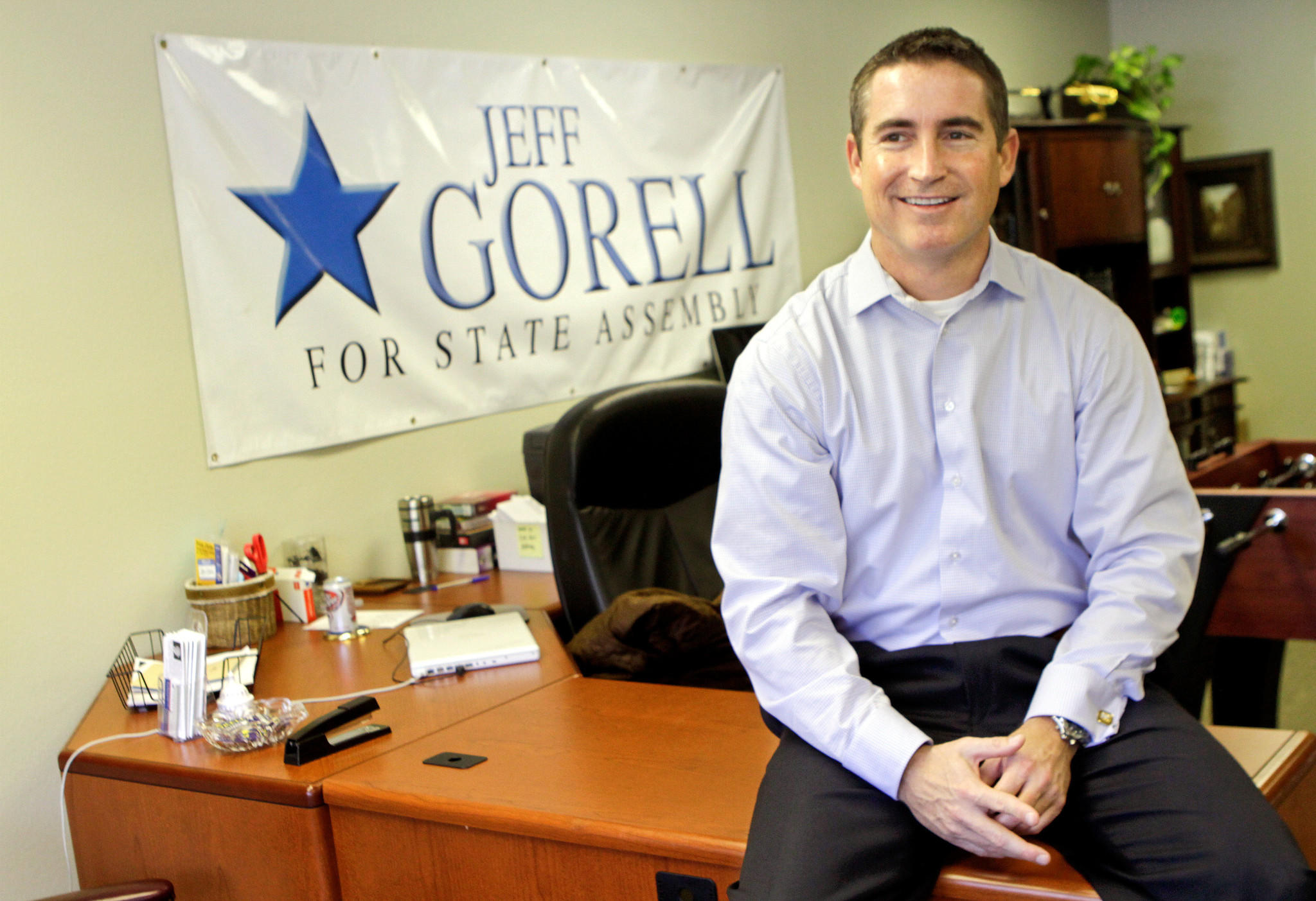 Democrats have launched an online ad slamming Assemblyman Jeff Gorell (R-Camarillo), who is now running for Congress.