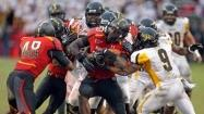 Terps force 4 turnovers, beat Towson, 28-3, in teams' first meeting