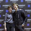Veronica Roth and Ansel Elgort of 'Divergent'
