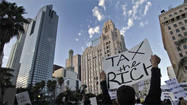 Wall Street-style protests target downtown Los Angeles bank
