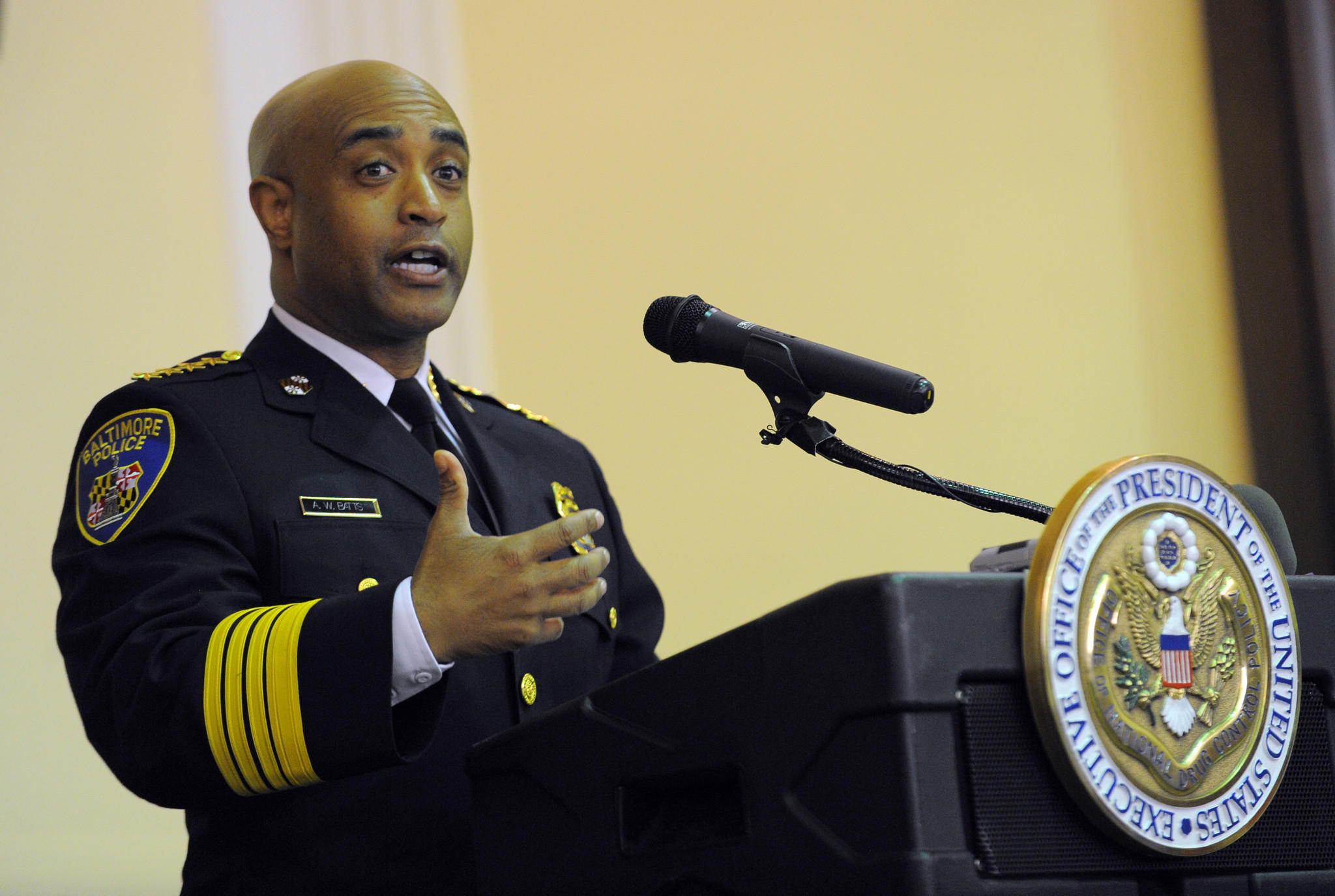 Baltimore Police Commissioner Anthony Batts speaks in this Baltimore Sun file photo.