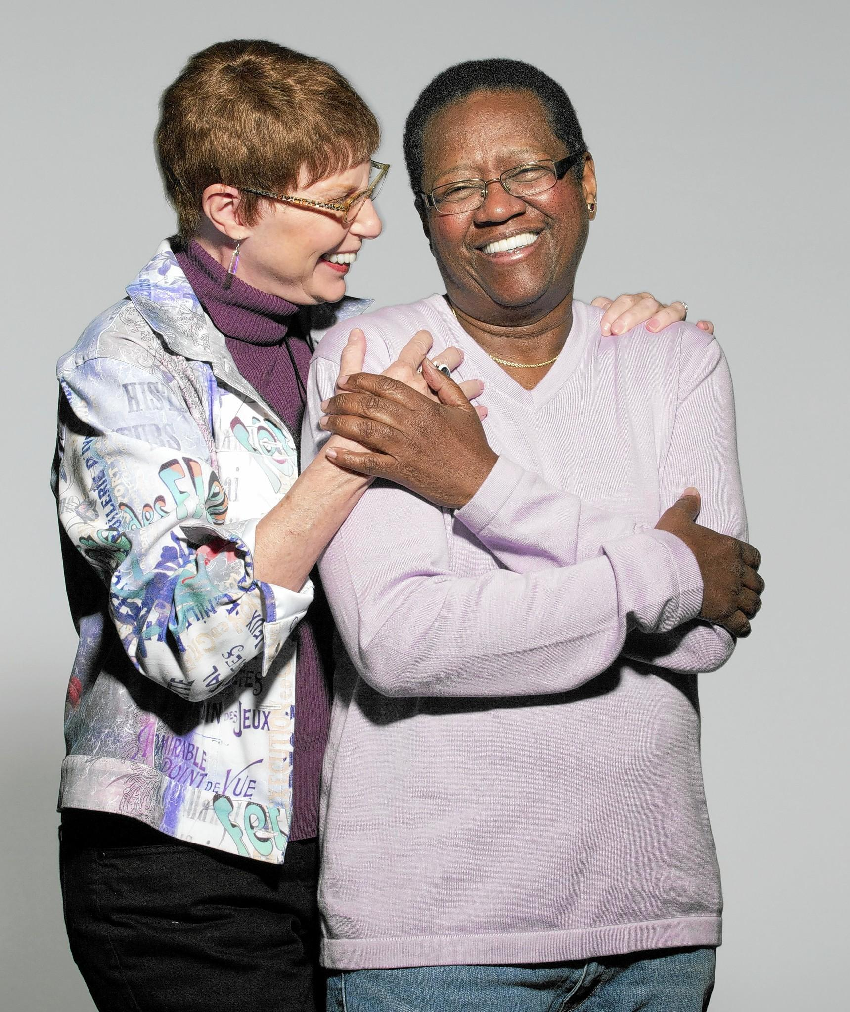 Vernita Gray, right, and her future wife, Pat Ewert, in 2010.