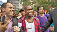 Occupy Wall Street activists cool to celebrities' visit